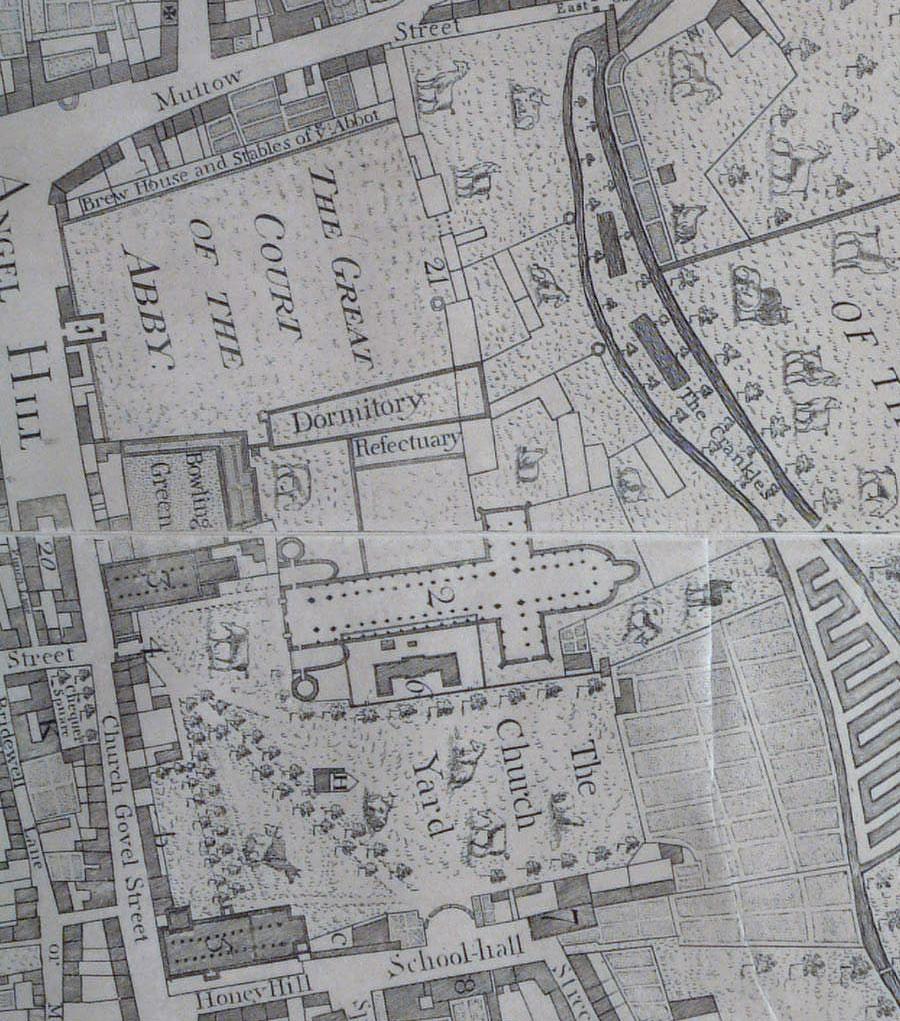 Plan of St Edmundsbury Abbey