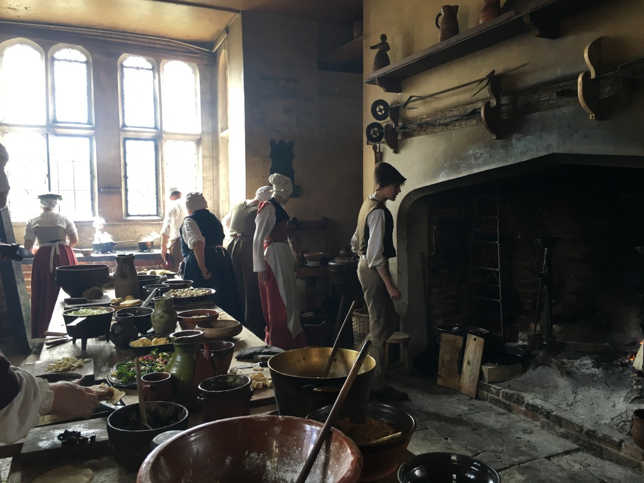 Inside the kitchen at Tudor Kentwell