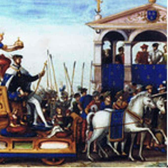 A depiction of the Fête held at Rouen in 1551