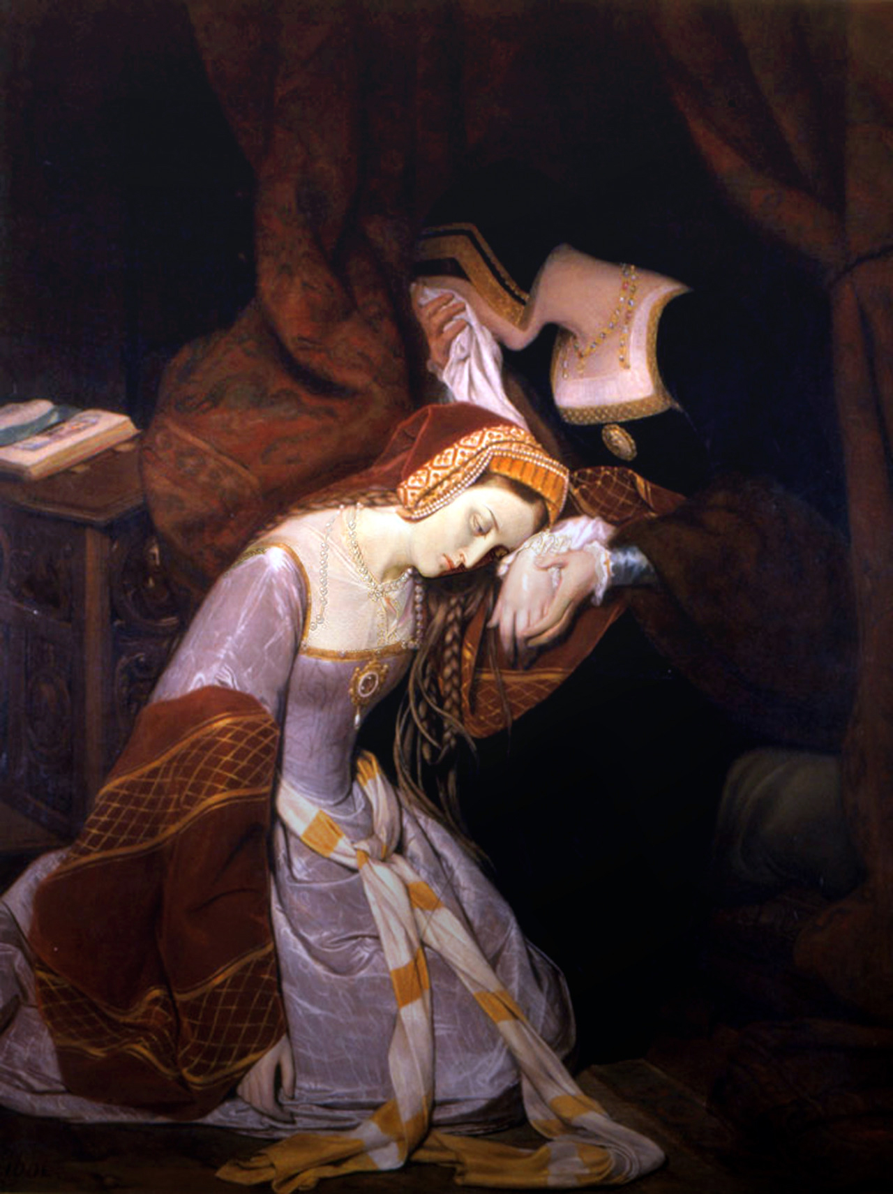 Anne Boleyn Execution: Anne weeps at the Tower