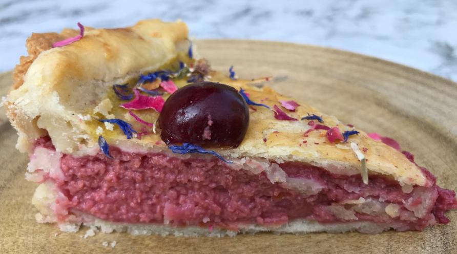 Anne Boleyn inspired recipes - Cherry & Rose Tarte