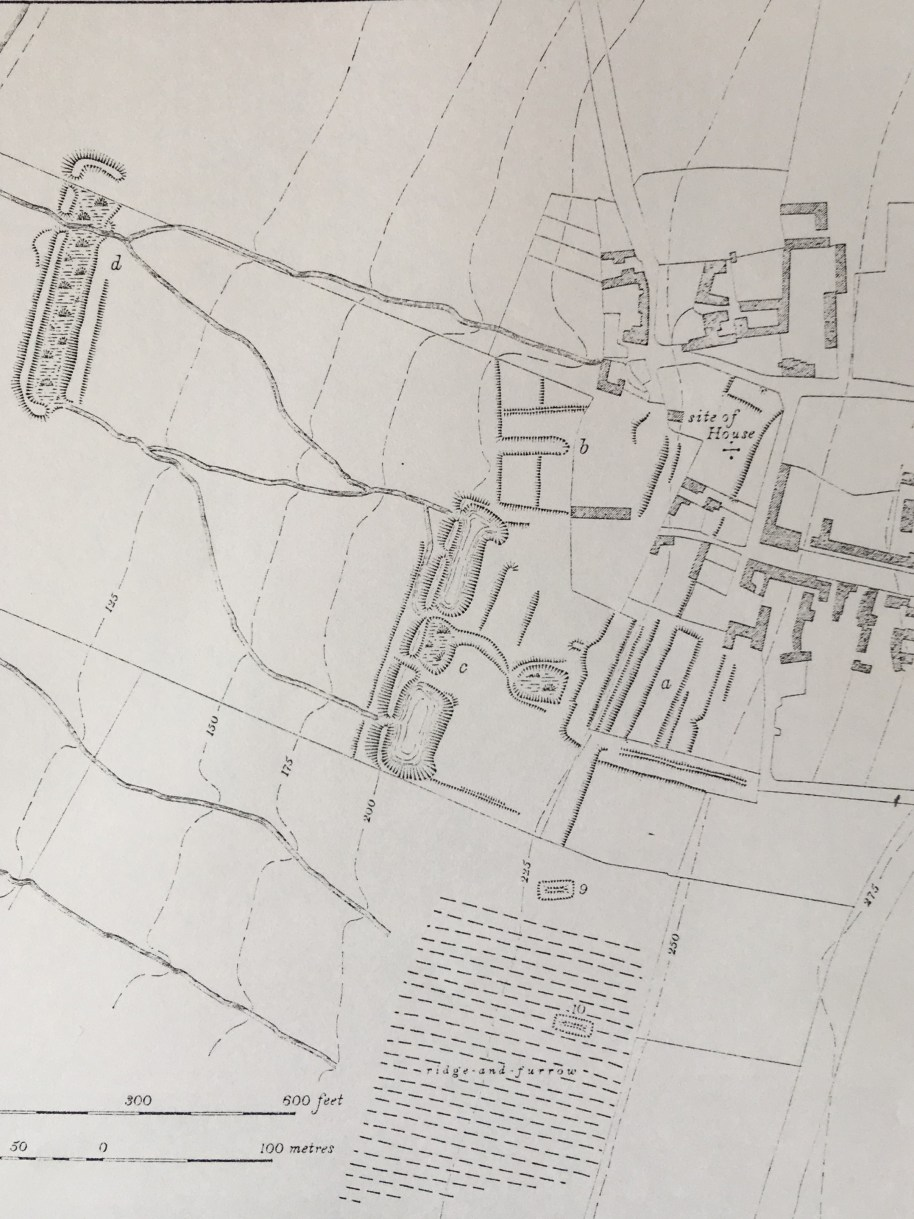 Plan of the site of the Palace of Collyweston