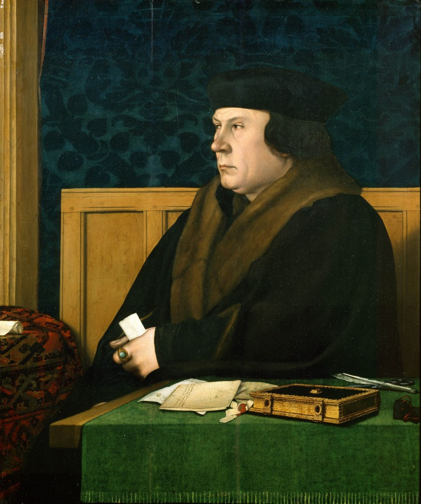 Painting of Thomas Cromwell seated at a desk