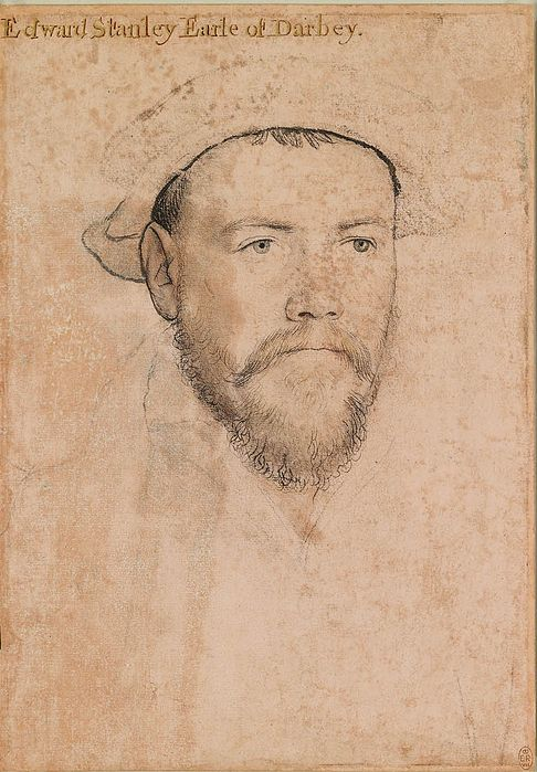 Drawing of Edward Stanley, Earl of Derby and intended husband of Mary Howard.