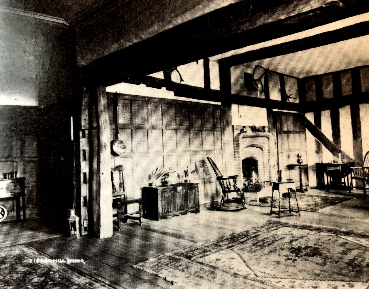 Inside Tickenhill House - the hall