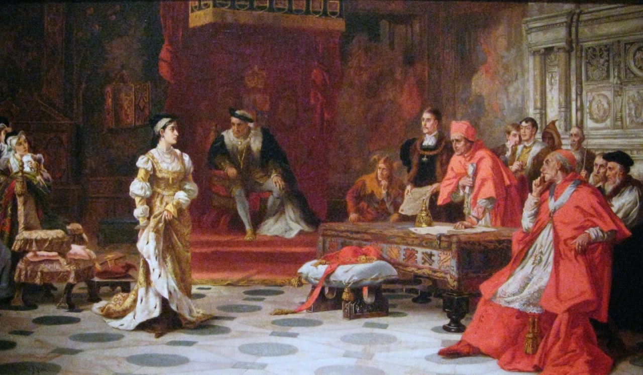Laslett John Pott - Katherine of Aragon Denounced Before King Henry VIII and His Council ca. 1880