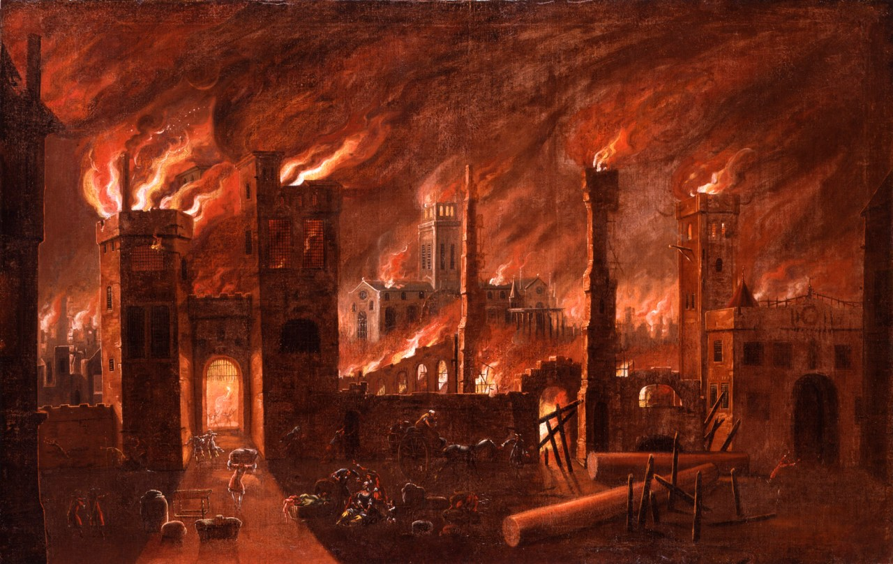 Ludgate and Old St Pauls' Ablaze