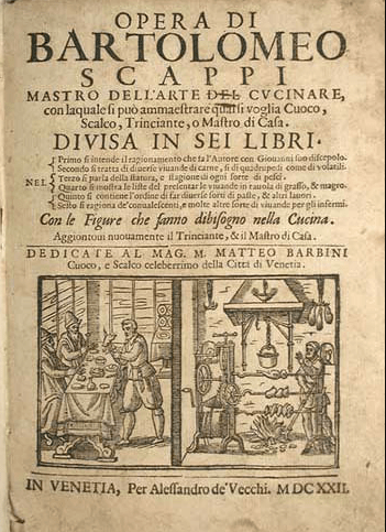 The front page of the Opera of Bartolomeo Scappi