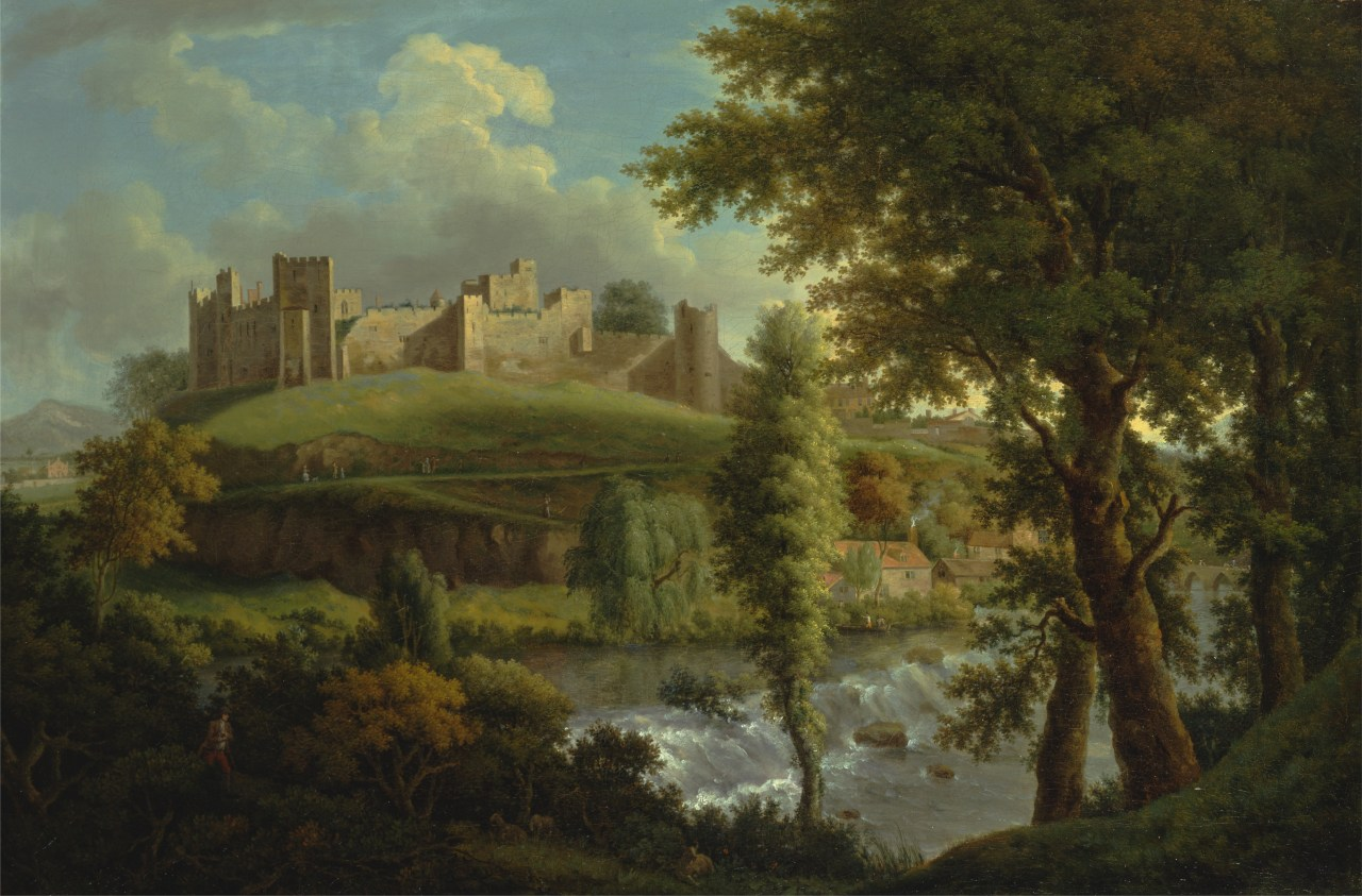 Ludlow castle with Dinham Weir