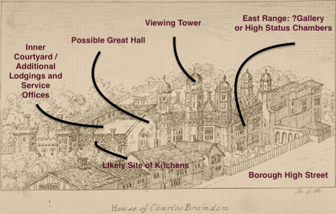 An annotated image of Suffolk Place
