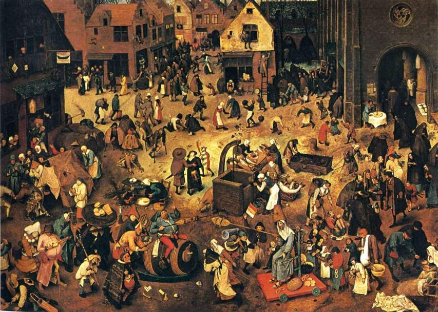 The Fight Between Carnival and Lent, P Bruegel, 1559