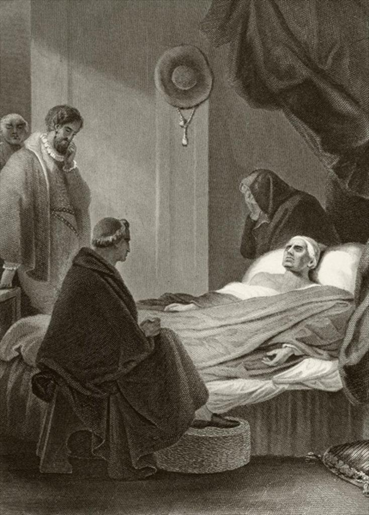 Thomas Wolsey lays dying