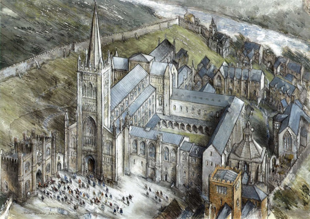 A reconstruction of Leicester Abbey