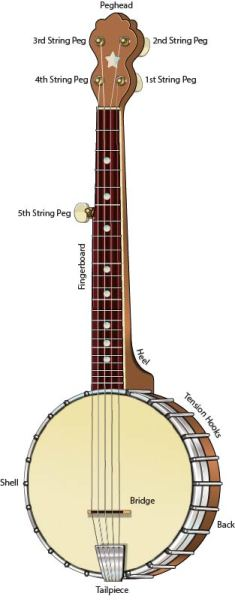 5-string banjo chords parts