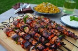 Shish Kebab with peppers and tomatos