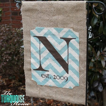 Burlap Garden Flag | The Turquoise Home