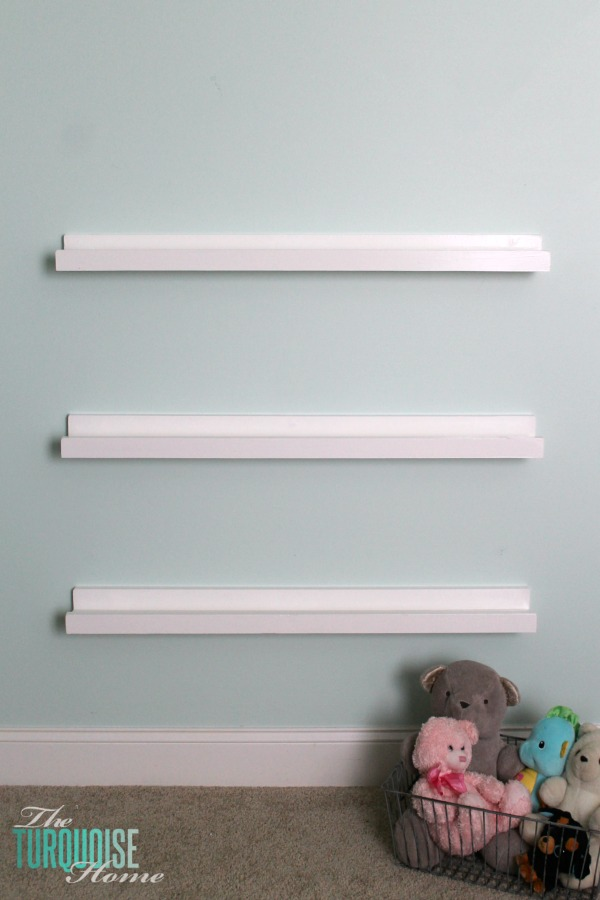 Diy Bookshelf Ledges For The Nursery The Turquoise Home