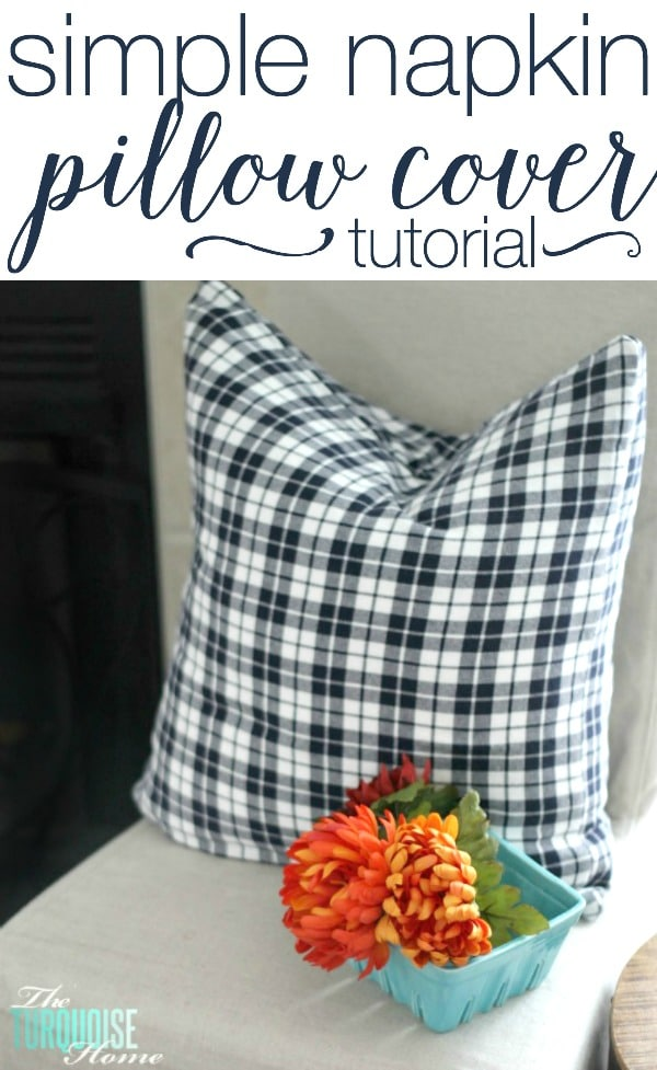 simple diy napkin pillow covers the