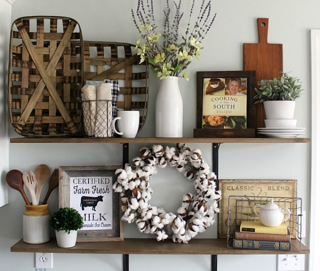Love These Tips For Styling Shelves These  Diy Shelves Were Transformed With Some Old