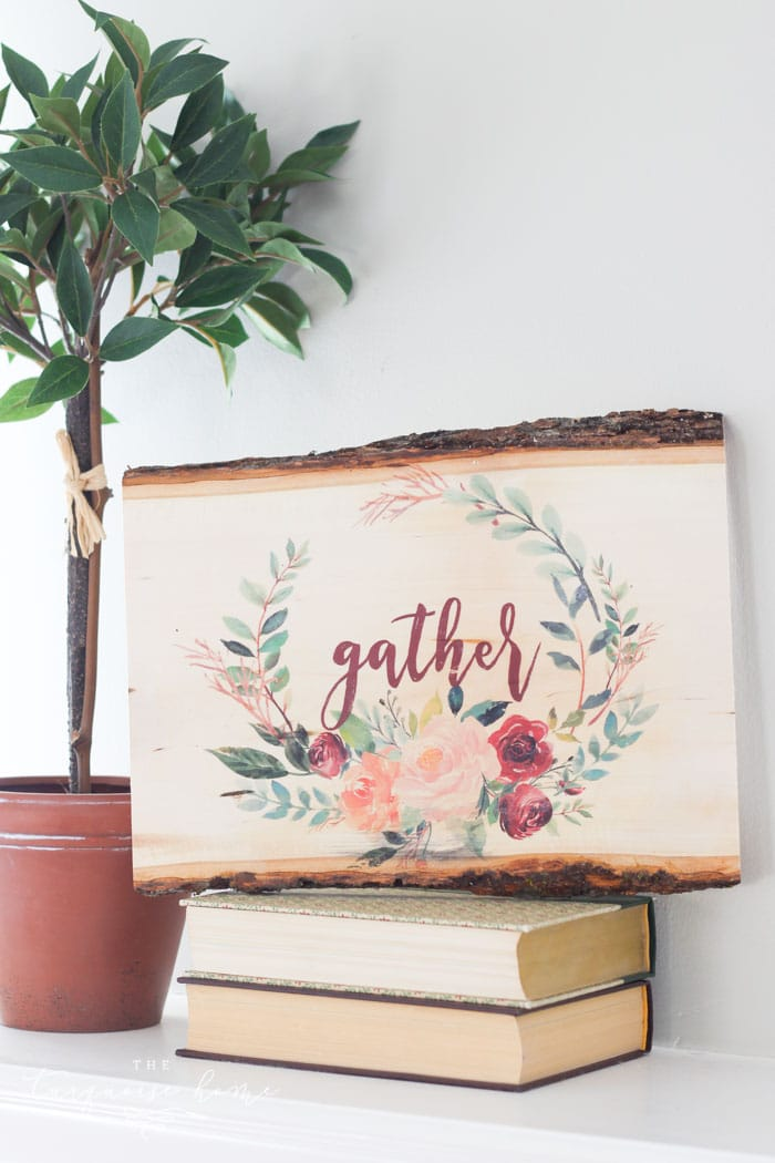 DIY Photo transfer to Wood with a Free Printable