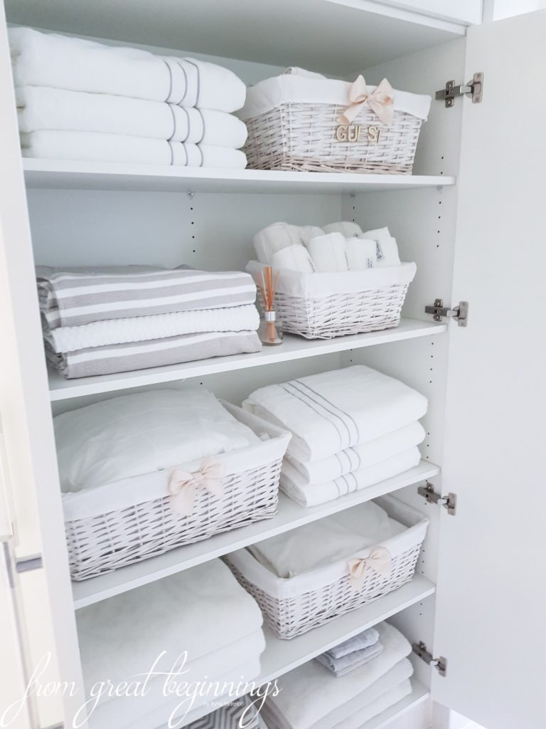 How To Organize A Linen Closet The Turquoise Home
