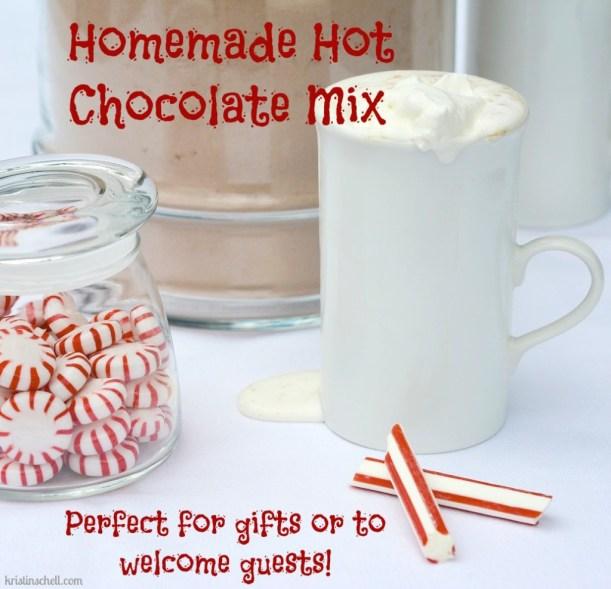 Homemade Hot Chocolate Mix | kristinschell.com