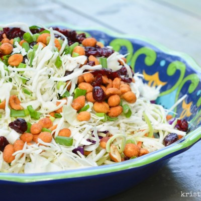Sweet & Tangy Coleslaw | Five ingredient summer salad , perfect for picnics, potlucks, and neighborhood gatherings | theturquoisetable.com