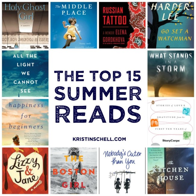 The top 15 summer reads... seriously, if you don't read these the next few months, you're missing out big time.