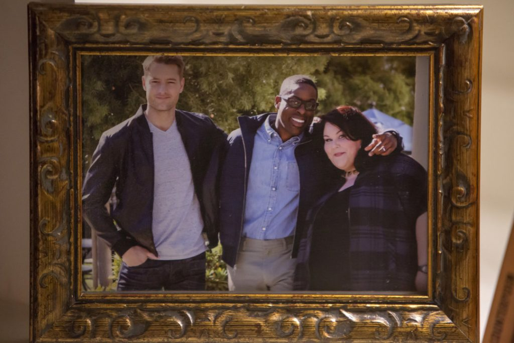 "THIS IS US -- ""Kyle"" Episode 103 -- Pictured: (l-r) Justin Hartley as Kevin, Sterling K. Brown as Randall, Chrissy Metz as Kate -- (Photo by: Ron Batzdorff/NBC)"