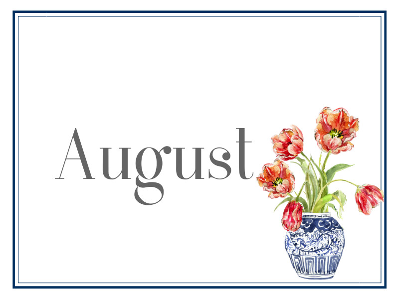 August Suppers for Sharing