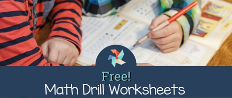 Free Math Drill Worksheets   The Tutor Coach Free Math Drill Worksheets