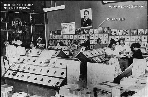 Inside the record store - (Photo courtesy of Jamelle Dolphin)