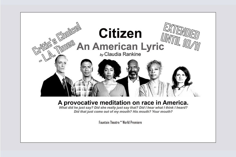 Citizen An American Lyric promo card