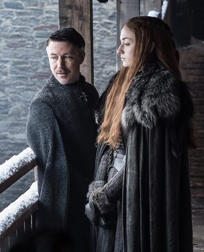 Littlefinger with Sansa Stark-S7
