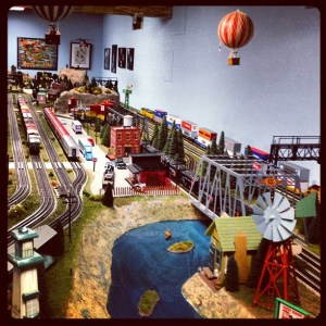 My father-in-law's amazing model train layout!