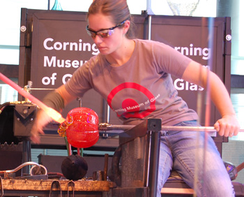 Hot Glass Demo at Corning Museum of Glass