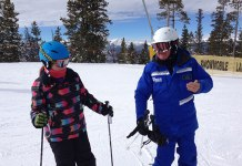 Keystone family ski lesson