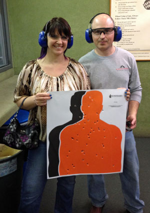 Love at the shooting range