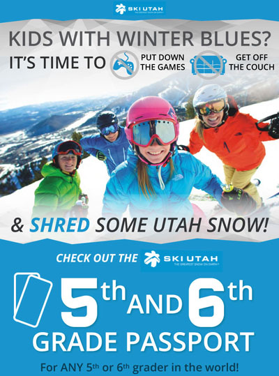 Ski Utah Passport - kids ski free