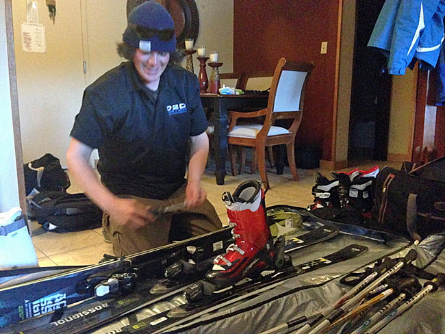 Door2Door ski delivery service brings ski gear to your lodging.