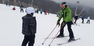 Ski lessons at Wintergreen Resort in Virginia