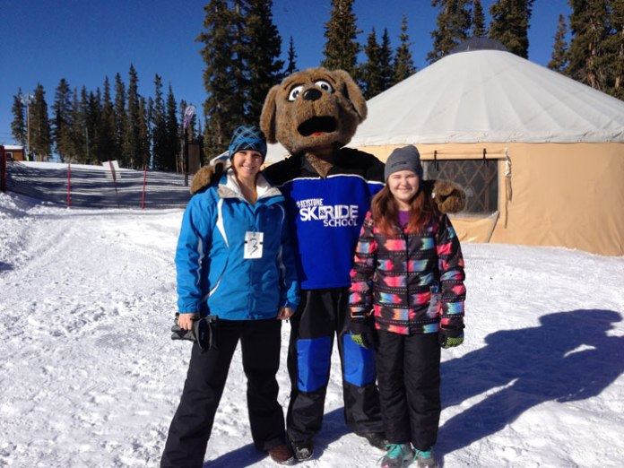 Photo op with Riperoo, Keystone's mascot.