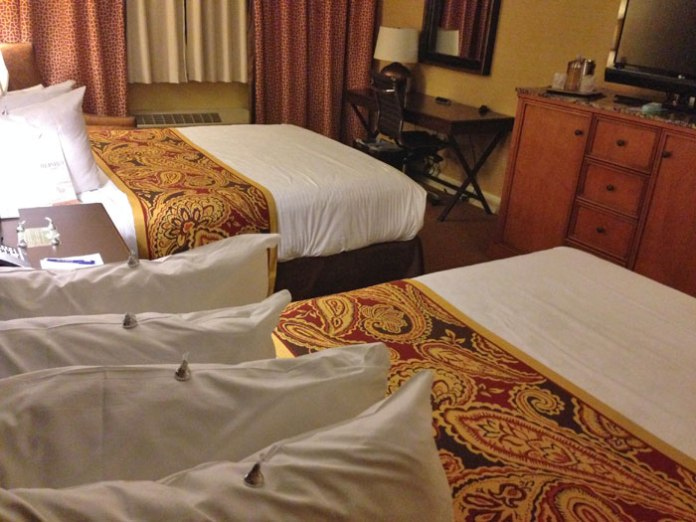 You'll be greeted with Hershey Kisses on your pillows at the Hershey Lodge in Hershey, PA.