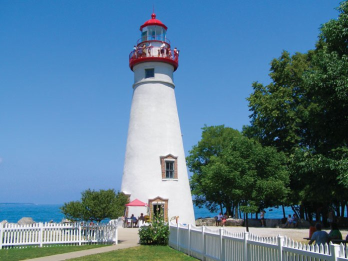 Marblehead lighthouse on the shores of Lake Erie.