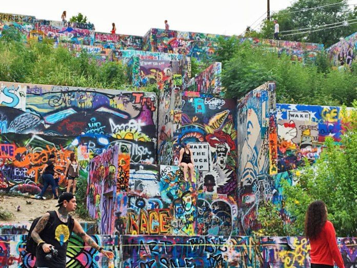 Castle Hill Graffiti Park, aka Hope Outdoor Gallery, in Austin, TX.