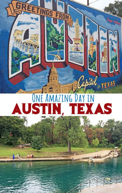 One-day itinerary for Austin, TX.