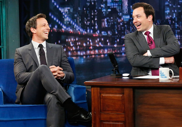 seth meyers jimmy fallon late night tonight show