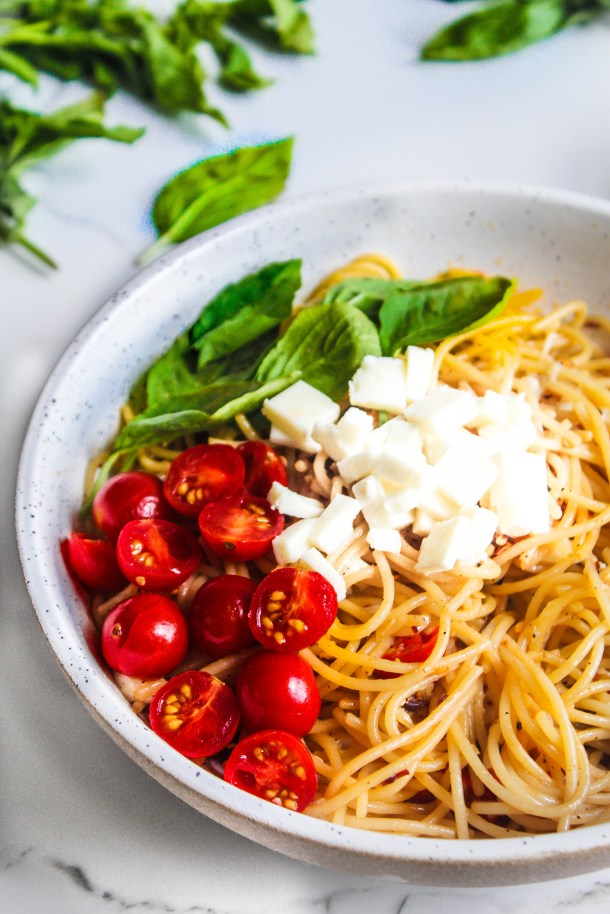 Lemon and Feta Spaghetti
