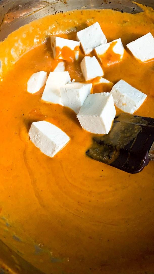 Shahi Paneer in a pan