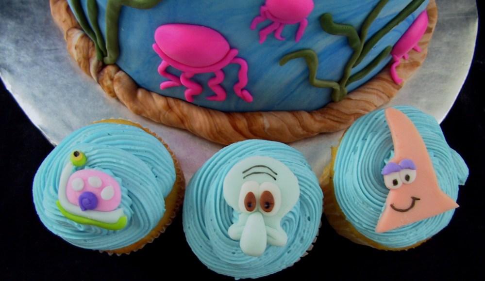 Fondant Tiered Sponge Bob Birthday Cake - Danville, KY (3/6)